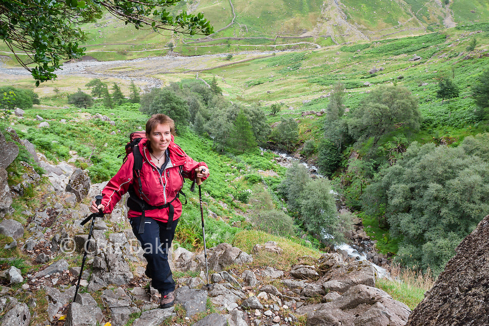 Heading up the steep section in Taylor Gill.