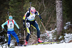 Eva Tofalvi (ROU) competes during Women 10 km Pursuit at day 3 of IBU Biathlon World Cup 2015/16 Pokljuka, on December 19, 2015 in Rudno polje, Pokljuka, Slovenia. Photo by Ziga Zupan / Sportida