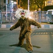Street celebration of Diwali in Kolkata.