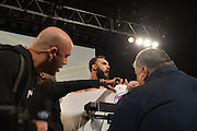 Johny Hendricks weighs in prior to UFC 171 in Dallas, Texas on March 14, 2014. (Cooper Neill)