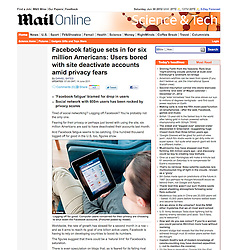 Daily Mail online; Woman using Facebook on an iPad