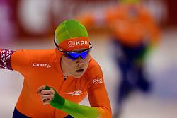 13-01-2013 SCHAATSEN: EK ALLROUND: HEERENVEEN<br /> NED, Speedskating EC Allround Thialf Heerenveen / 1500 women - Antoinette de Jong <br /> ©2013-FotoHoogendoorn.nl