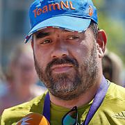 NLD/Amsterdam/20180701 - Evers staat op Run 2018, finish Niels van Baalen