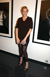 AMY SACCO at a private view of an exhibition of portrait photographs by Danish photographer Marc Hom held at the Hamiltons Gallery, 13 Carlos Place, London on 23rd October 2006.<br />