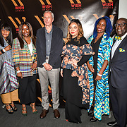 Speakers Reni Folawiyo, Yvonne Fasinro, David Suddens, Ezzie Chidi-Ofong and Jacqueline Shaw at The Business of African Fashion at WISH Africa Expo, a showcase of Pan-Africanism at Olympia Conference Centre on 9 June 2019, London, UK.
