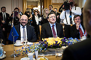 Martin Schulz and Jose Manuel Barrosa meets the President of the Storting, Dag Terje Andersen.