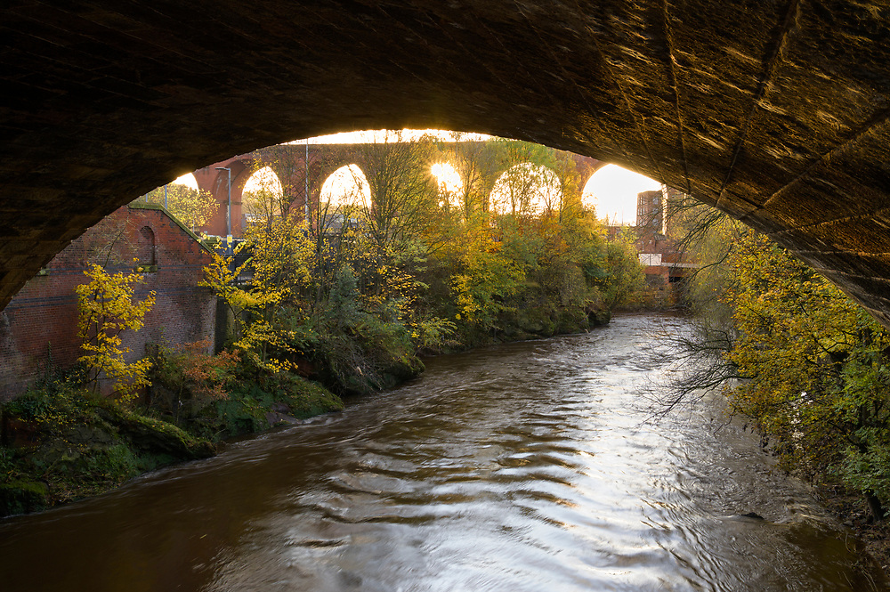 River Mersey, Stockport, Greater Manchester, UK