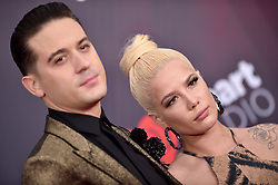 G-Eazy, Halsey attend the 2018 iHeartRadio Music Awards at the Forum on March 11, 2018 in Inglewood, California. Photo by Lionel Hahn/AbacaPress.com