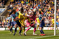 Oxford United keep the pressure up on Wycombe Wanderers during the EFL Sky Bet League 1 match between Oxford United and Wycombe Wanderers at the Kassam Stadium, Oxford, England on 30 March 2019.