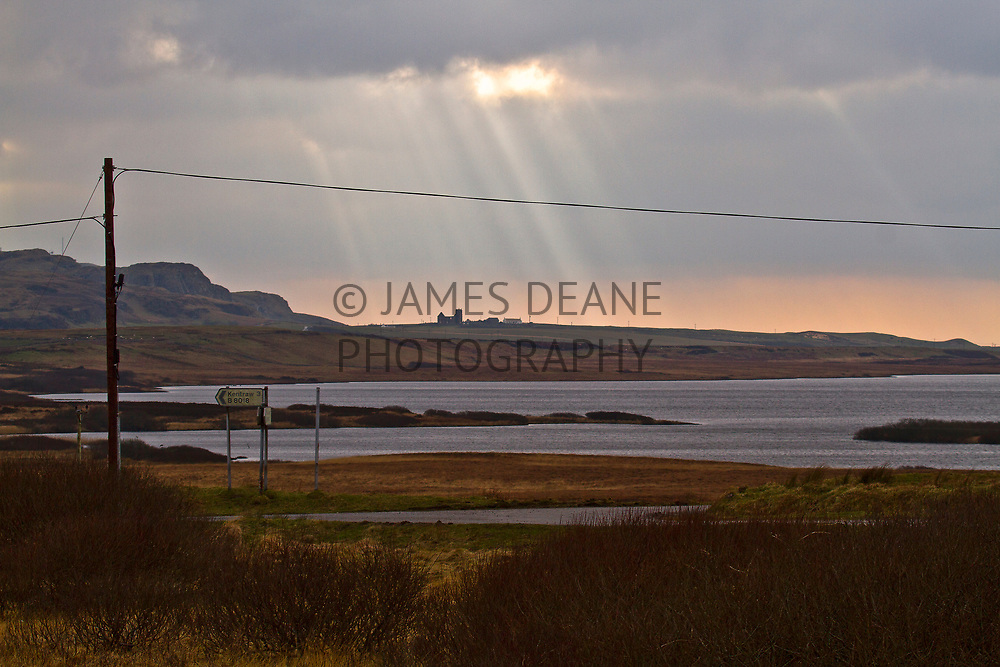 A view towards Kilchoman Church on Islay from the Gruinart Road