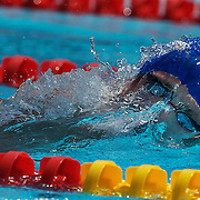 David Davies, Great Britain, in action in the Men's 800m Freestyle heats at the World Swimming Championships in Rome on Tuesday, July 28, 2009. Photo Tim Clayton..