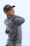 Bailey Wilson (Warrenpoint) on the 1st tee during Round 2 of the Connacht U16 Boys Amateur Open Championship at Galway Bay Golf Club, Oranmore, Galway on Wednesday 17th April 2019.<br /> Picture:  Thos Caffrey / www.golffile.ie