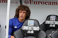David Luiz of Chelsea pictured sitting on the bench .Premier league match, Swansea city v Chelsea at the Liberty Stadium in Swansea, South Wales on Sunday 11th Sept 2016.<br /> pic by  Andrew Orchard, Andrew Orchard sports photography.