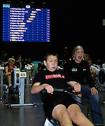 Birmingham, GREAT BRITAIN, Matthew HNATIW, recieves some vocal support as he competes in the Men's J13, at the British Indoor Rowing Championships, National Indoor Arena, Birmingham, ENGLAND. 12/11/2006, [Photo, Peter Spurrier/Intersport-images].....