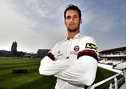 Somerset's Lewis Gregory - Photo mandatory by-line: Harry Trump/JMP - Mobile: 07966 386802 - 17/03/15 - SPORT - Cricket - Somerset Press Call - The County Ground, Taunton, England.