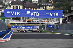 September 30, 2018 - Sochi, Russia - Motorsports: FIA Formula One World Championship 2018, Grand Prix of Russia,    Start  (Credit Image: © Hoch Zwei via ZUMA Wire)