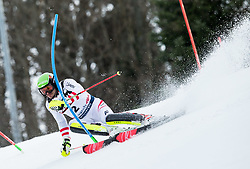 """Michael Matt (AUT) competes during 1st Run of FIS Alpine Ski World Cup 2017/18 Men's Slalom race named """"Snow Queen Trophy 2018"""", on January 4, 2018 in Course Crveni Spust at Sljeme hill, Zagreb, Croatia. Photo by Vid Ponikvar / Sportida"""