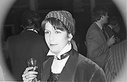 Josephine Keyes. Nicholas Coleridge book party. 1983. SUPPLIED FOR ONE-TIME USE ONLY> DO NOT ARCHIVE. © Copyright Photograph by Dafydd Jones 66 Stockwell Park Rd. London SW9 0DA Tel 020 7733 0108 www.dafjones.com