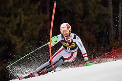 05.03.2017, Podkoren, Kranjska Gora, SLO, FIS Weltcup Ski Alpin, Kranjska Gora, Slalom, Herren, 1. Lauf, im Bild Marco Schwarz (AUT) // Marco Schwarz of Austria in action during his 1st run of men's Slalom of FIS ski alpine world cup at the Podkoren in Kranjska Gora, Slovenia on 2017/03/05. EXPA Pictures © 2017, PhotoCredit: EXPA/ Johann Groder