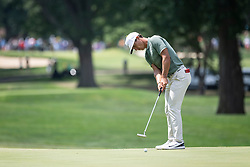 August 5, 2018 - Akron, OH, U.S. - AKRON, OH - AUGUST 05:   Thorbjorn Olesen (DEN) putts on the fifth green the fifth green during the final round of the World Golf Championships - Bridgestone Invitational on August 5, 2018 at the Firestone Country Club South Course in Akron, Ohio. (Photo by Shelley Lipton/Icon Sportswire) (Credit Image: © Shelley Lipton/Icon SMI via ZUMA Press)