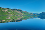 Reflection in Kinaskan Lake along the Stewart Cassiar Highway<br /> Along the Stewart Cassiar Highway<br /> British Columbia<br /> Canada