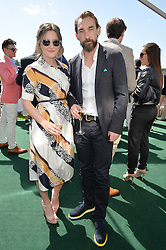 CLAIRE LANCASTER and JOSEPH MAWLE at the St.Regis International Polo Cup at Cowdray Park, Midhurst, West Sussex on 16th May 2015.