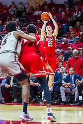 NORMAL, IL - February 26: Nate Kennell looks for three points during a college basketball game between the ISU Redbirds and the Bradley Braves on February 26 2020 at Redbird Arena in Normal, IL. (Photo by Alan Look)