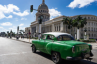El Capitolio, Capitol Building in Havana, Cuba 2020 from Santiago to Havana, and in between.  Santiago, Baracoa, Guantanamo, Holguin, Las Tunas, Camaguey, Santi Spiritus, Trinidad, Santa Clara, Cienfuegos, Matanzas, Havana