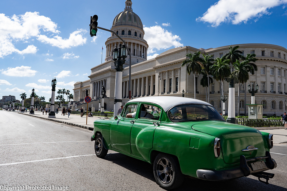 El Capitolio, Capitol Building in Havana, Cuba 2020 from Santiago to Havana, and in between.  Santiago, Baracoa, Guantanamo, Holguin, Las Tunas, Camaguey, Santi Spiritus, Trinidad, Santa Clara, Cienfuegos, Matanzas, Havana