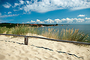 View of Nida, Lithuania, from sand dunes