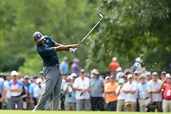August 9, 2018 - St. Louis, Missouri, United States - Tiger Woods tees off the 7th hole during the first round of the 100th PGA Championship at Bellerive Country Club. (Credit Image: © Debby Wong via ZUMA Wire)
