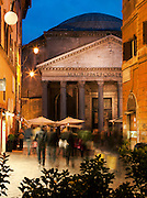 Tourists at the Pantheon, Rome, Italy