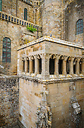 Abbey architecture, Mont Saint-Michel monastery, Normandy, France