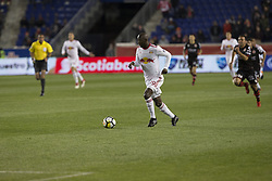 March 13, 2018 - Harrison, New Jersey, United States - Bradley Wright-Phillips (99) of Red Bulls controls ball during Scotiabank Concacaf Champions League quarterfinal second leg game against Club Tijuana at Red Bull Arena Red Bulls won 3 - 1 (5 - 1 on aggregate) (Credit Image: © Lev Radin/Pacific Press via ZUMA Wire)