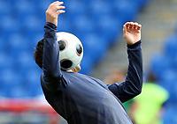GEPA-1806086018 - BASEL,SCHWEIZ,18.JUN.08 - FUSSBALL - UEFA Europameisterschaft, EURO 2008, Nationalteam Portugal, Training, Abschlusstraining. Bild zeigt Deco (POR).<br />Foto: GEPA pictures/ Philipp Schalber