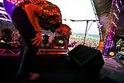 Fatboy Slim headlining at Rockness,  2008.
