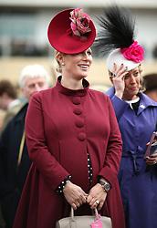 Zara Tindall during Ladies Day of the 2018 Cheltenham Festival at Cheltenham Racecourse.