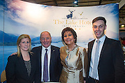 NO FEE PICTURES<br /> 23/1/16 Minister for Tourism Michael Ring and Maureen Ledwith, organiser of the Holiday World Show at the Lake Hotel stand at the Holiday World Show at the RDS in Dublin. Picture: Arthur Carron