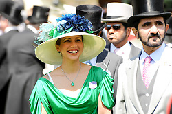 PRINCESS HAYA OF JORDAN and SHEIKH MOHAMMED BIN RASHID AL MAKTOUM at the third day of the Royal Ascot 2010 (Ladies Day) Racing Festival at Ascot Racecourse, Bershire on 17th June 2010.