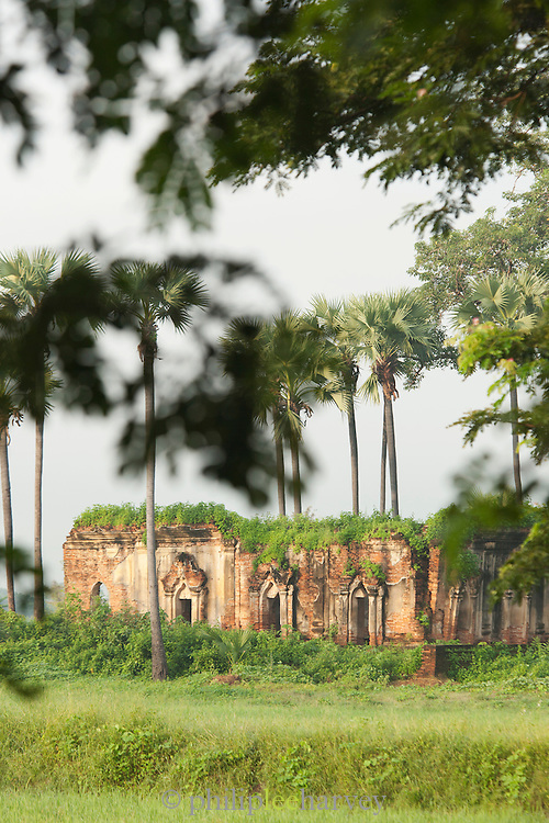 Ruins in the ancient city of Ava in Myanmar