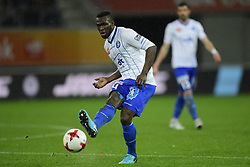November 24, 2017 - Gent, Belgium - GENT, BELGIUM - NOVEMBER 24 : Anderson Esiti midfielder of KAA Gent shoots the ball during the Jupiler Pro League match between KAA Gent and Royal Excel Mouscron at the Ghelamco Arena on November 24, 2017 in Gent, Belgium, 24/11/2017 (Credit Image: © Panoramic via ZUMA Press)