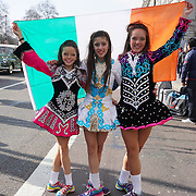 Hundreds of people participate St Patrick's Day festival and Parade in London set to go green for another world-class 2016 on 13th March 2016 in London, England,UK. Photo by © 2016