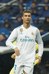 January 13, 2018 - Madrid, Spain - Cristiano Ronaldo (forward; Real Madrid) in action during La Liga match between Real Madrid and Villareal CF at Santiago Bernabeu on January 13, 2018 in Madrid (Credit Image: © Jack Abuin via ZUMA Wire)
