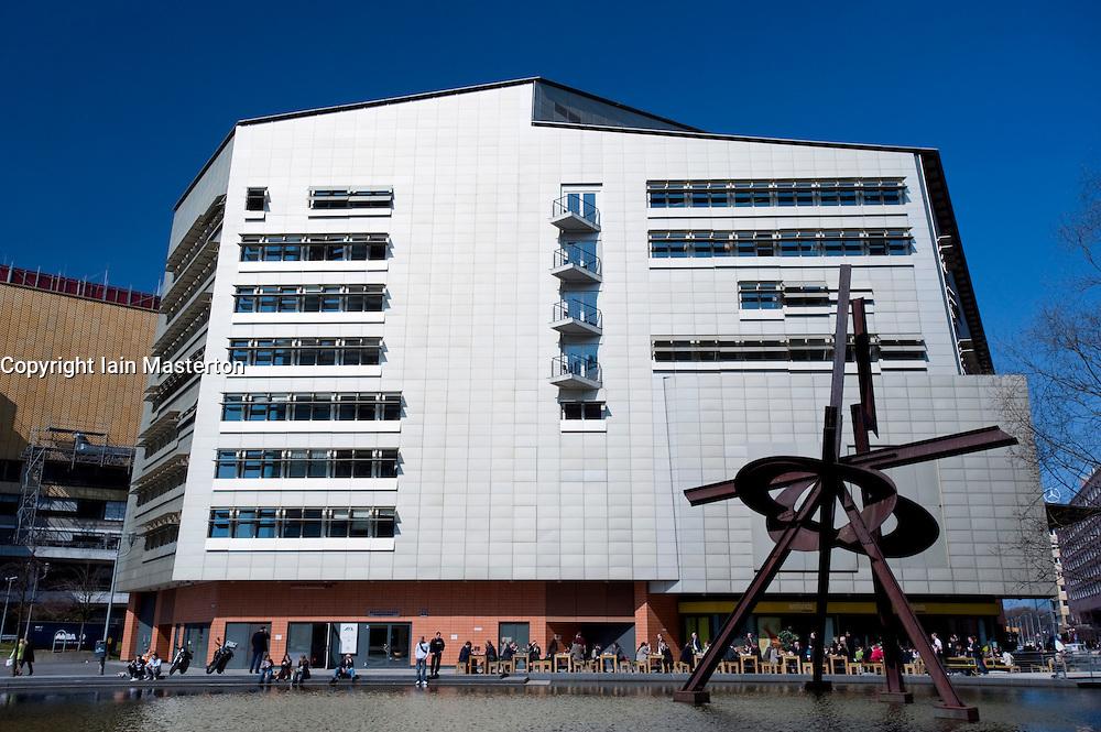 Modern building and sculpture at Potsdamer Platz in central Berlin 2009