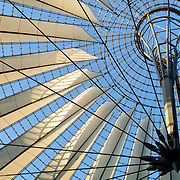 Roof of Atrium in the Sony Center at Potsdamer Platz, Berlin