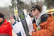 James Woods takes 2nd place at the ski FIS World Cup on 12th February 2017 in Stoneham Mountain, Canada. The Canadian Jamboree is part of the ski and snowboard FIS World Cup circuit held in Quebec City and Stoneham Mountain.