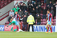 GOAL - Plymouth Argyll midfielder Antoni Sarcevic (7) scores a goal to make it 4-1 to Plymouth and celebrates during the EFL Sky Bet League 1 match between Scunthorpe United and Plymouth Argyle at Glanford Park, Scunthorpe, England on 27 October 2018. Pic Mick Atkins