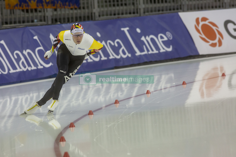 March 9, 2019 - Salt Lake City, Utah, USA - Bart Swings from Belgium competes in the 5000m speed skating finals at the ISU World Cup at the Olympic Oval in Salt Lake City, Utah. (Credit Image: © Natalie Behring/ZUMA Wire)
