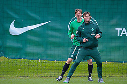 20.07.2011, Oeschberghof, Donaueschingen, Trainingslager 2011 GER, 1.FBL, Werder Bremen Trainingslager Donaueschingen 2011, im Bild Reha Training Tim Borowski (Bremen #6) mit Yann-Benjamin Kugel (Fitnesstrainer Werder Bremen)..// during the trainings session from GER, 1.FBL, Werder Bremen Trainingslager Donaueschingen 2011 on 2011/07/20,  Oeschberghof, Donaueschingen, Germany..EXPA Pictures © 2011, PhotoCredit: EXPA/ nph/  Kokenge       ****** out of GER / CRO  / BEL ******
