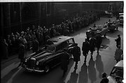 The State Funeral of Sir Alfred Chester Beatty. The funeral procession en route to Glasnevin Cemetery.<br /> 29.01.1968